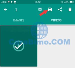 Menyimpan Status WhatsApp Video atau Foto Menggunakan Status Saver