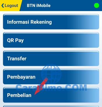 Top Up LinkAja Lewat BTN Mobile