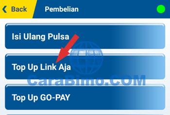 Pilih menu Top Up Link Aja