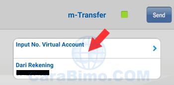 input no virtual account