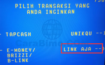 Cara Top Up LinkAja di ATM BNI