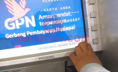 menu Transaksi Tanpa Kartu