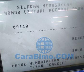 Masukan nomor virtual account linkaja