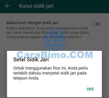 Cara Mengunci WhatsApp Dengan Sidik Jari (fingerprint lock)