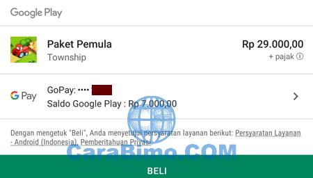 membeli di Google Play Store