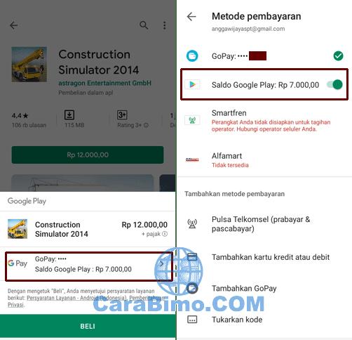 Bayar Google Play Store Pakai Saldo GoPay