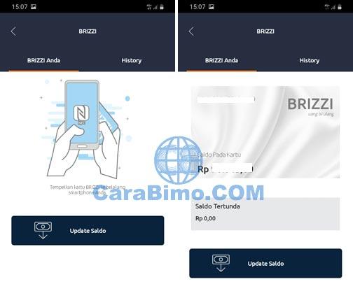 Cek Saldo Kartu E-Toll BRIZZI Di HP Android Dengan BriMo