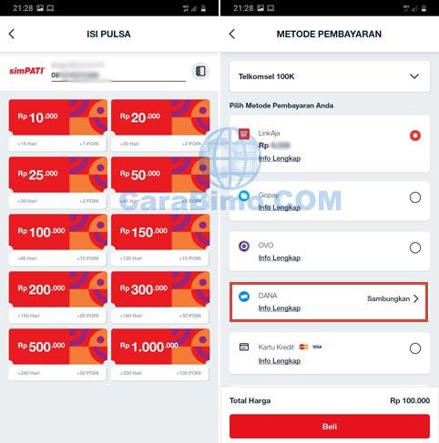 Bayar MyTelkomsel Pakai DANA Begini Caranya