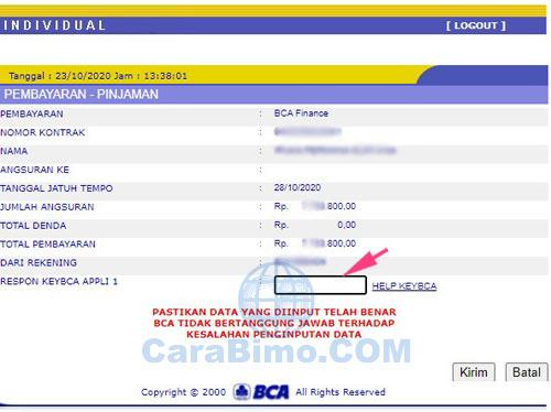Membayar BCA Finance