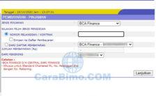 Cara Bayar Angsuran BCA Finance Lewat KlikBCA