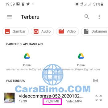 Mengecilkan File Video
