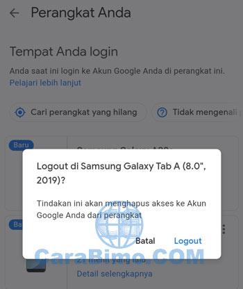 Keluar Dari Gmail Di HP Android