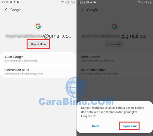 Cara Keluar Dari Gmail Di HP Android dan Laptop