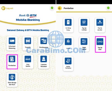 Cara Top Up OVO Lewat BTN Mobile Paling Mudah