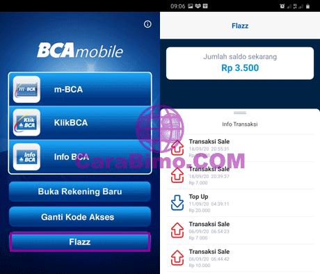 Cara Cek Mutasi Kartu Flazz BCA di HP Android