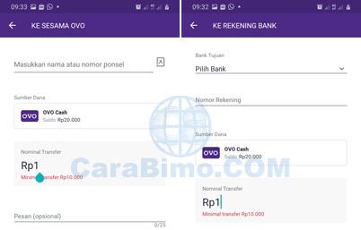batas minimal transfer OVO ke bank
