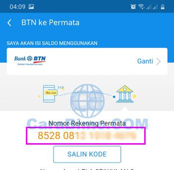 Kode Transfer BTN ke DANA