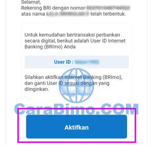Aktivasi BRImo Setelah Buka Tabungan BRI Online