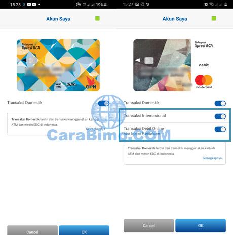 Kartu ATM BCA GPN dan Mastercard