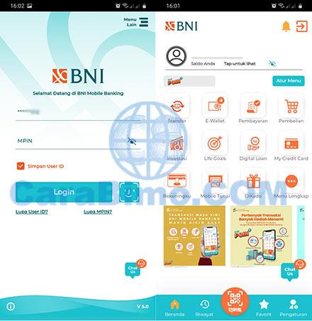 m banking BNI 2021