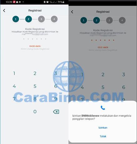 Input Kode Registrasi