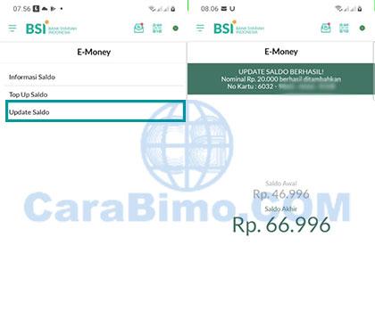 Update Saldo E-Toll Mandiri di BSI Mobile