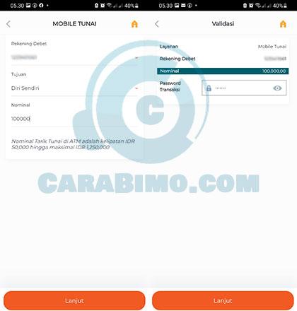 Mobile Tunai M Banking BNI